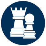 strategic planning icon chess pieces