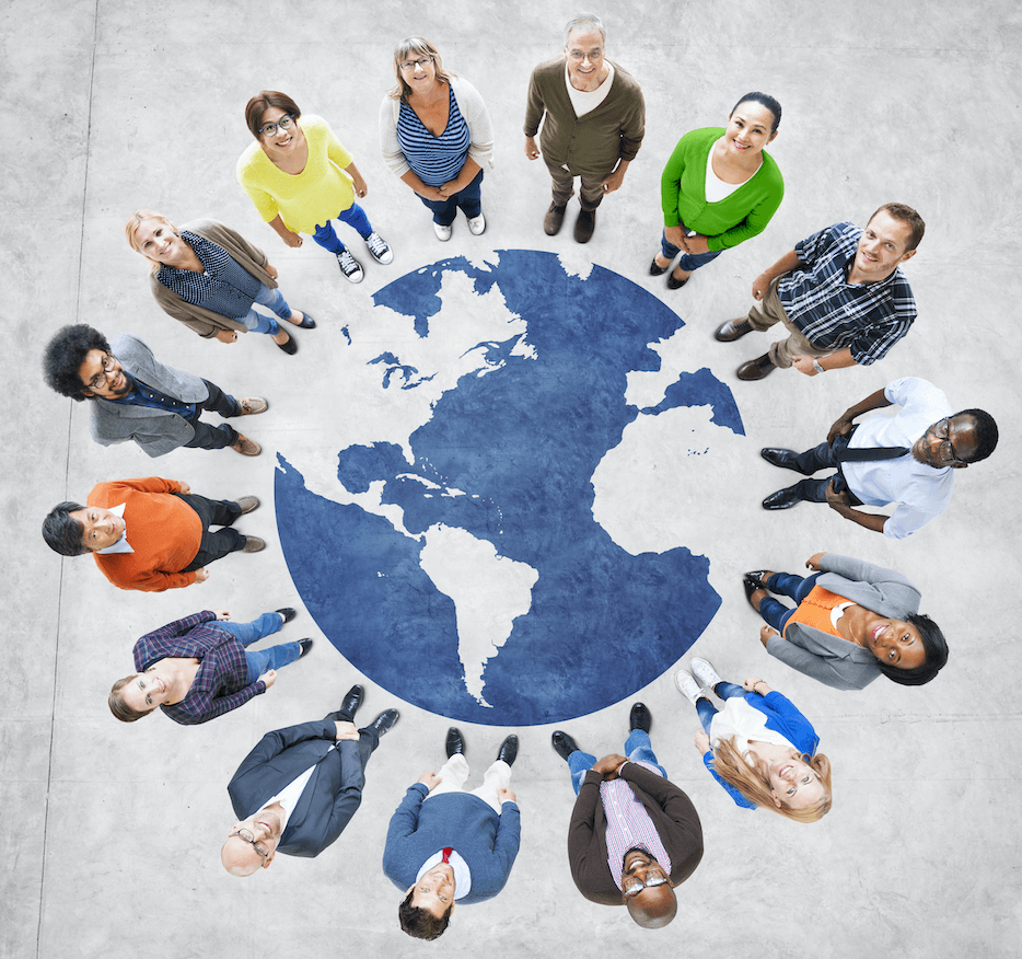 cultural diversity in nonprofits people shown around the globe
